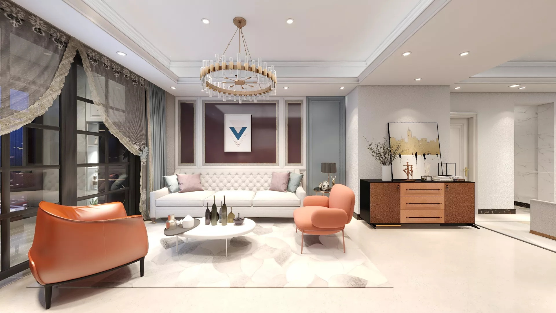 50平米公寓简约风格装修效果图