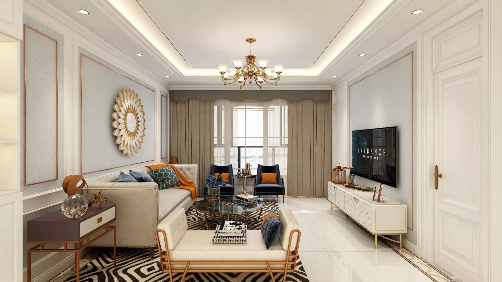 客厅,吊顶,背景墙,中式风格,沙发,灯具,茶几,温馨,舒适,实用
