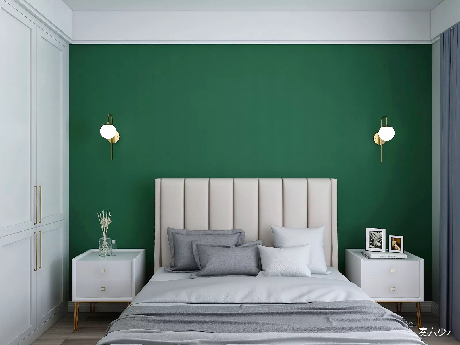 大气舒适型书房照片墙装修效果图