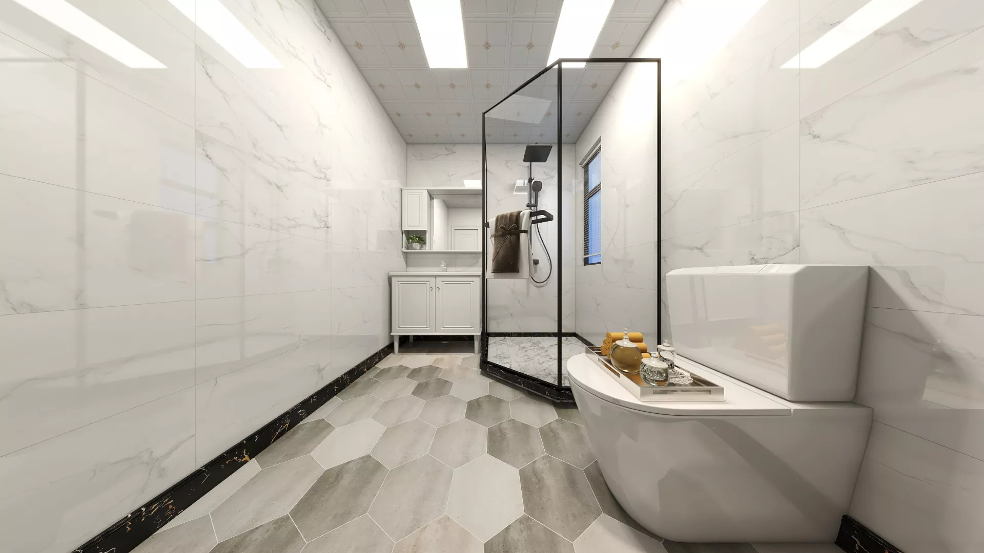 90平法式美式混搭客厅装修设计