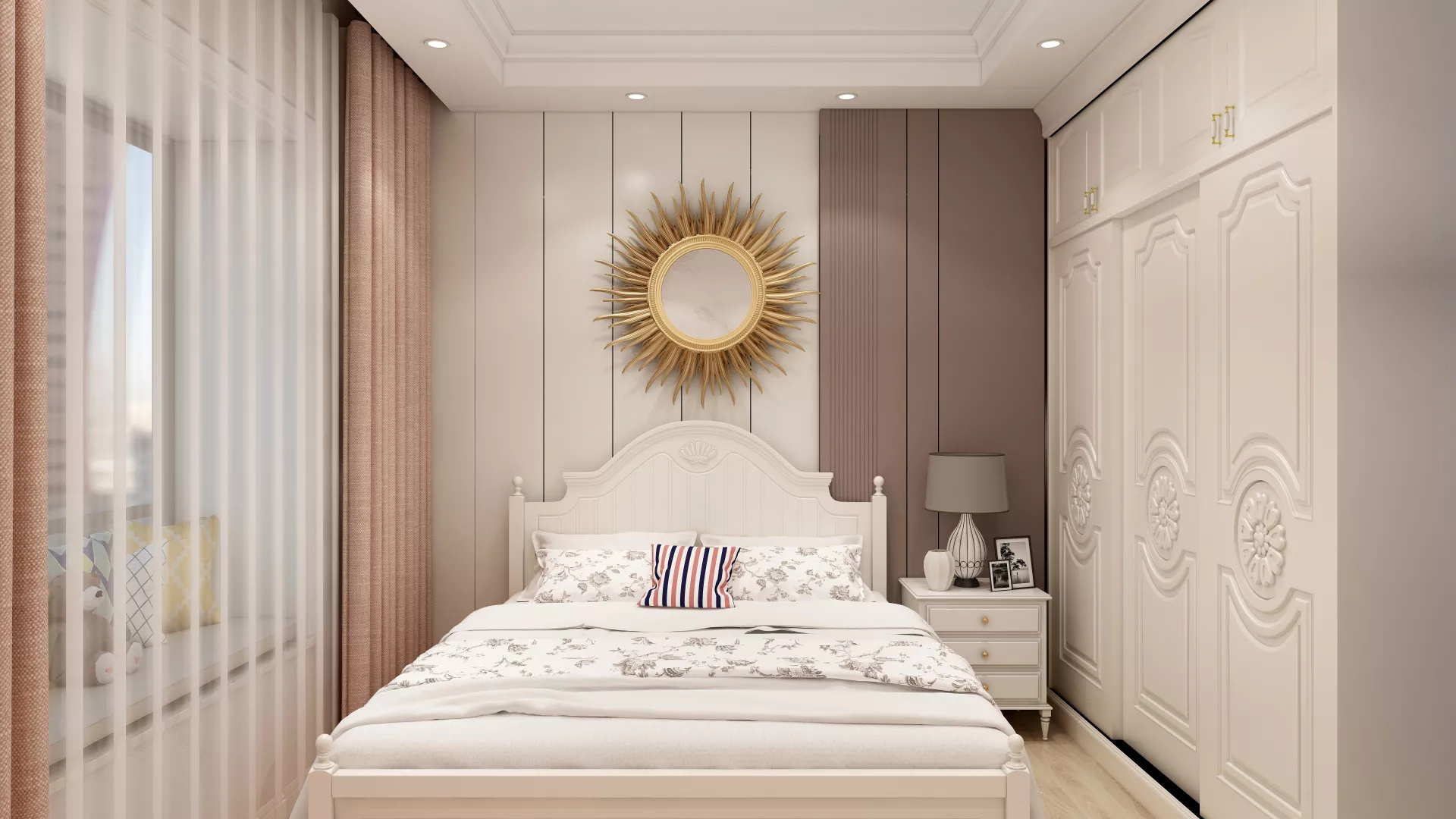 欧式简洁别墅客厅装修效果图