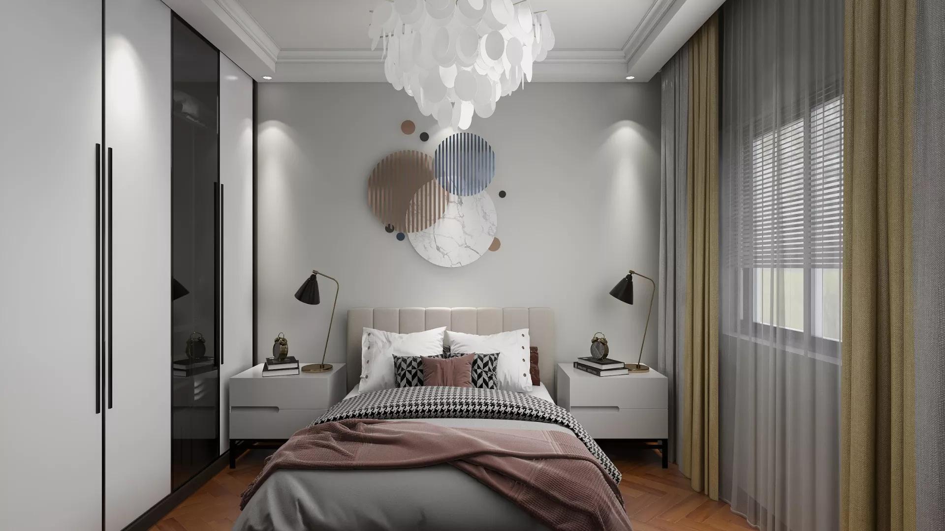 中户型简约风格卧室装修