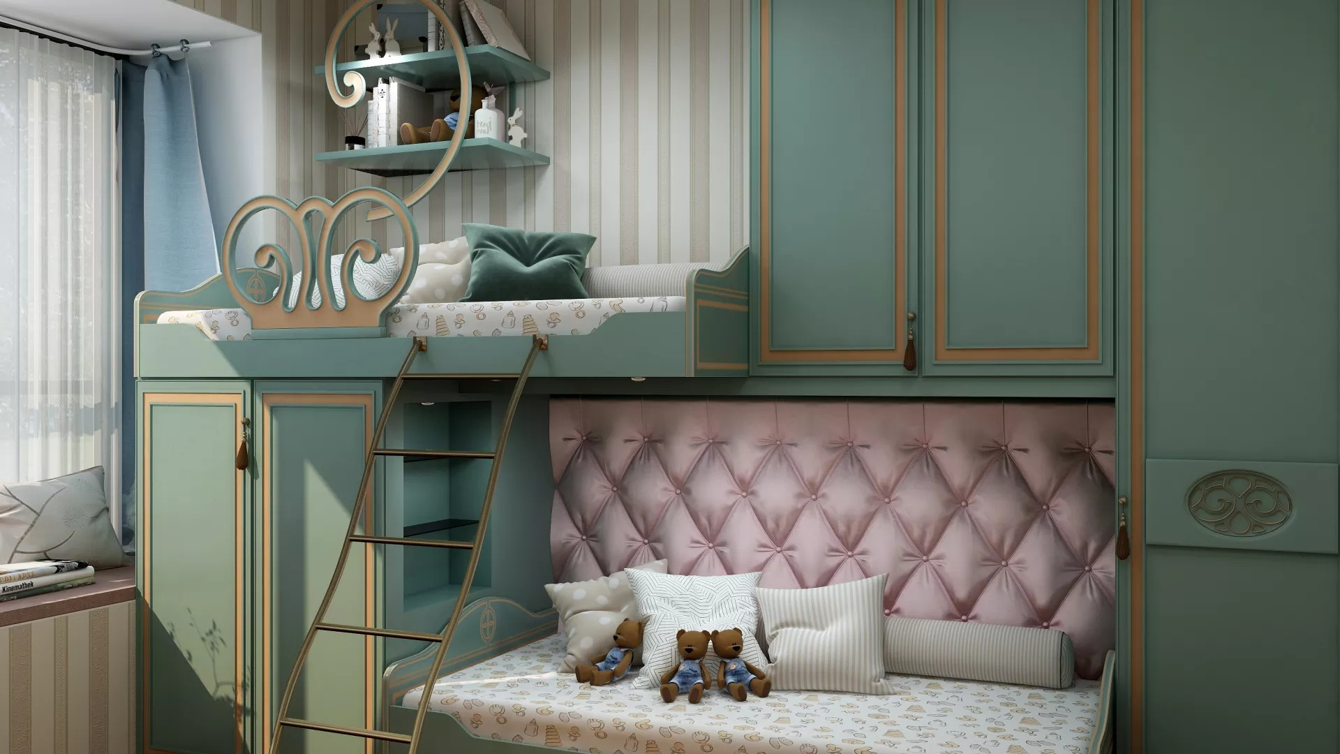 中户型美式风格卧室装修