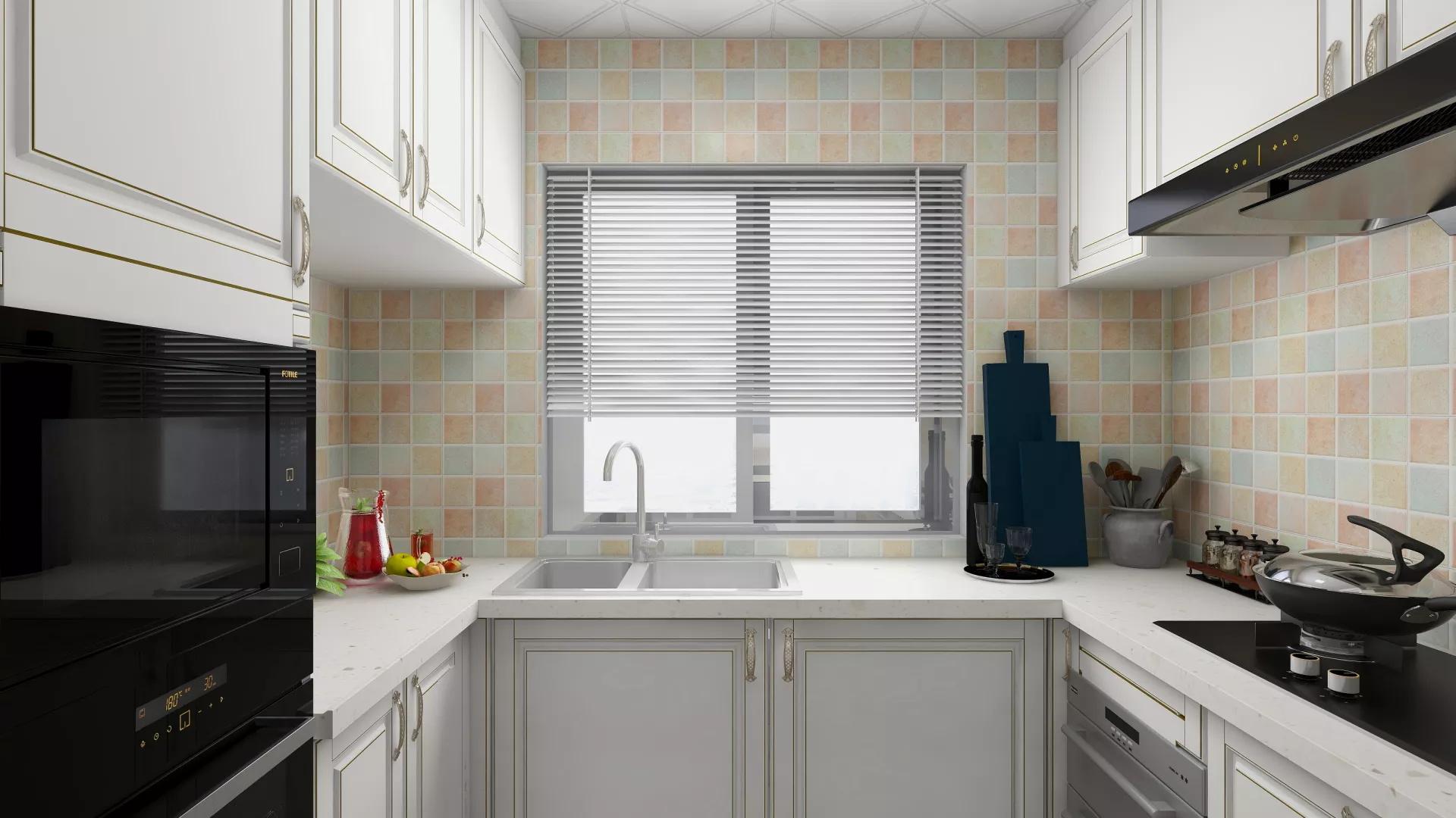 130平美式风格家客厅效果图