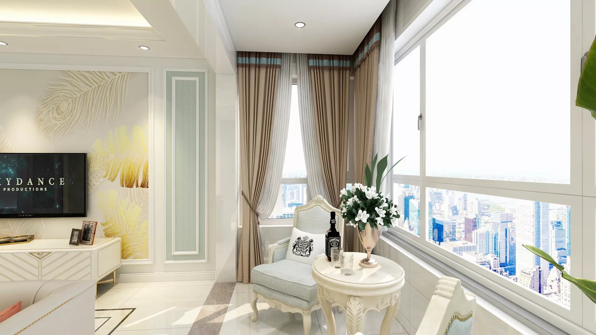 北欧风格乐活唯美型卧室床装修效果图