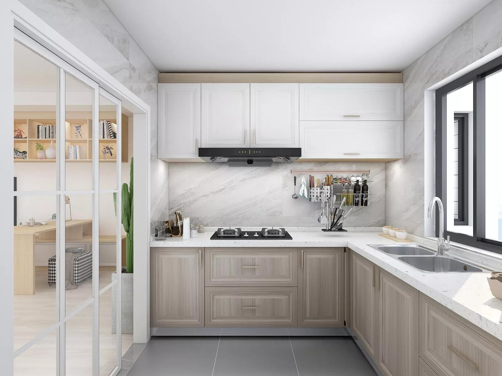 80平田园风格两居室装修效果图