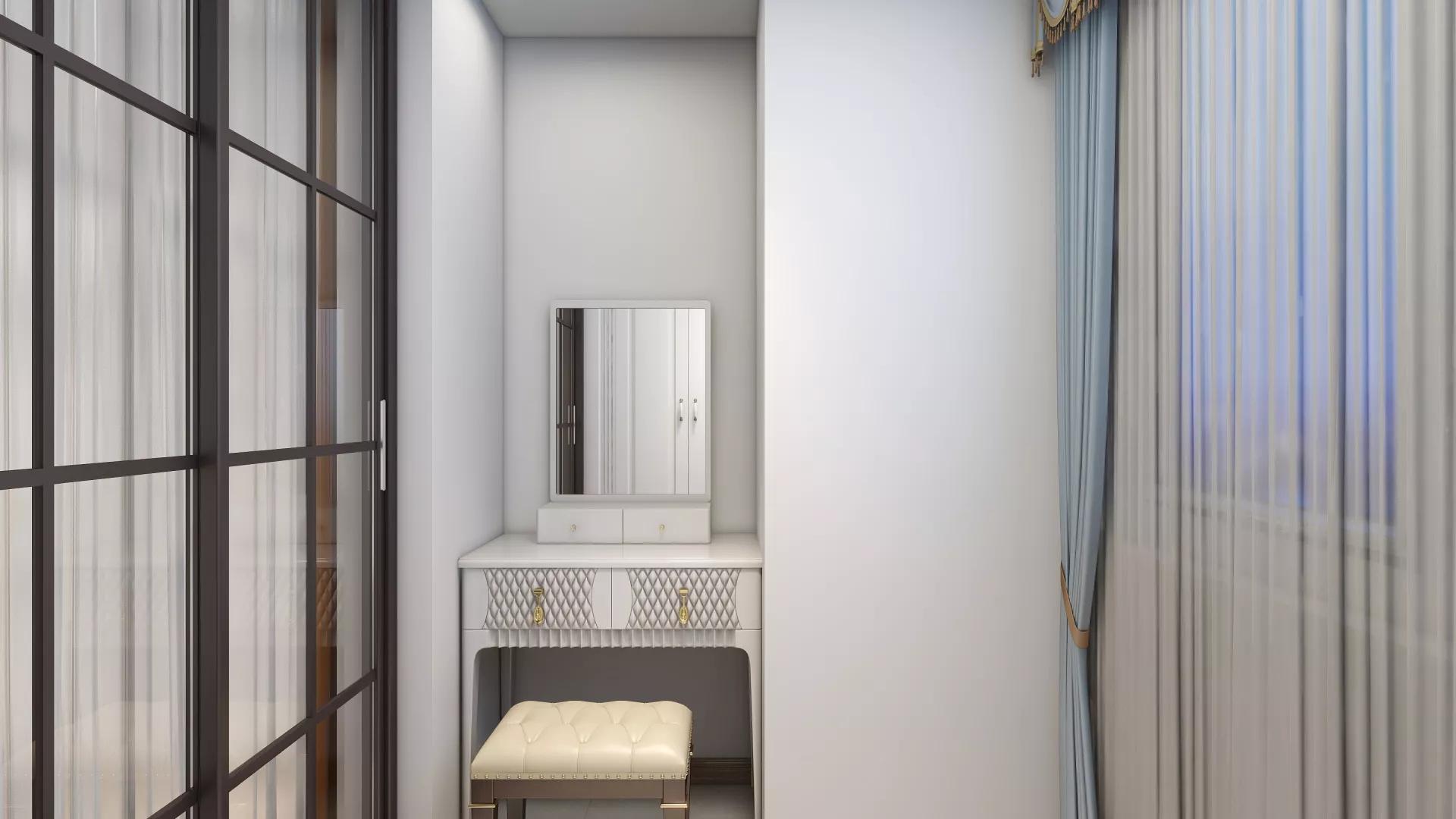 简约风格小清新卧室背景墙装修效果图
