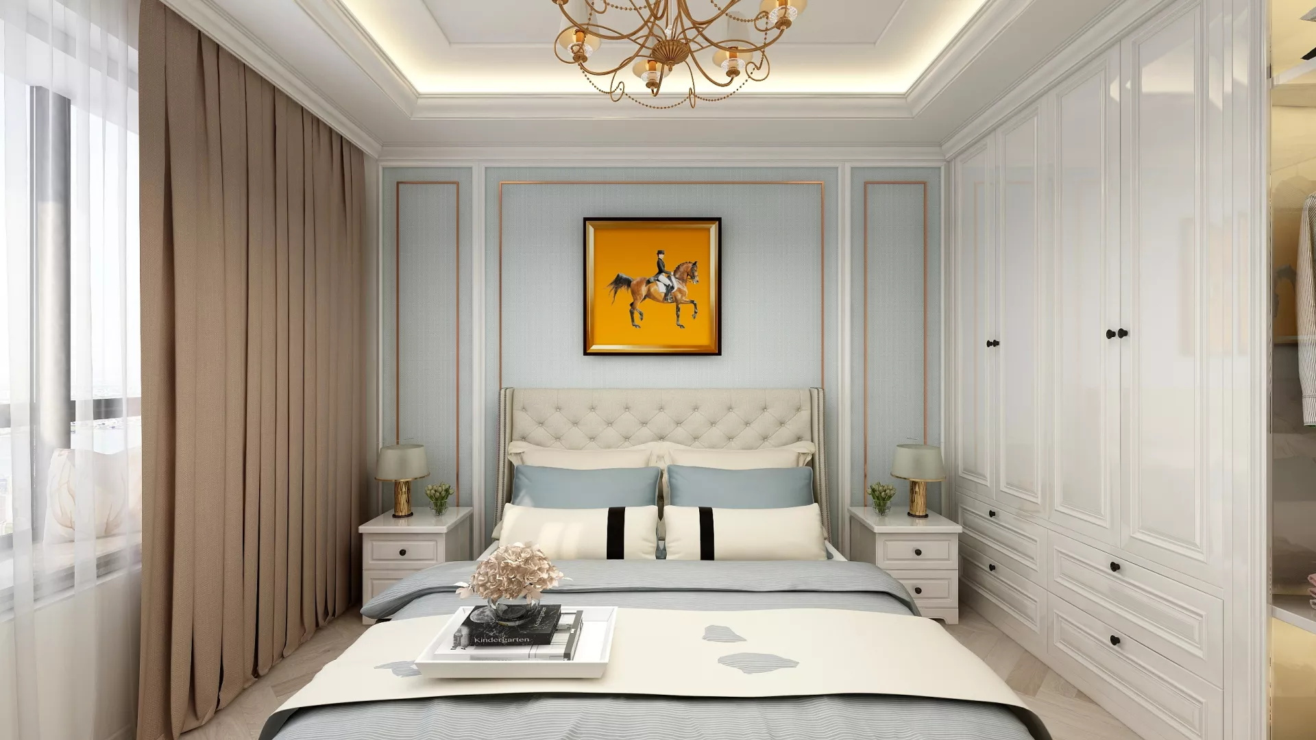 卧室飘窗窗帘怎么设计 有飘窗的卧室怎么安装窗帘