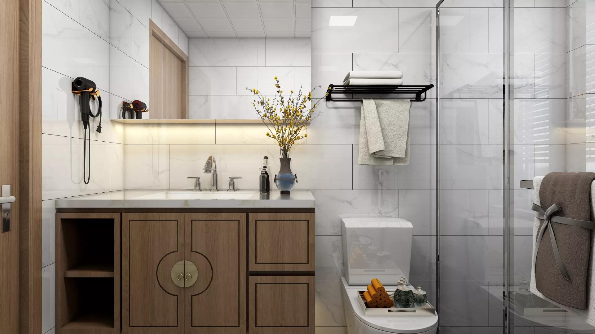 美式新古典风格三居室装修效果图