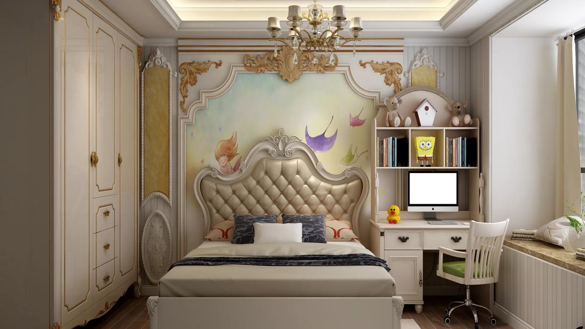88平米二居室简洁型卧室装修效果图