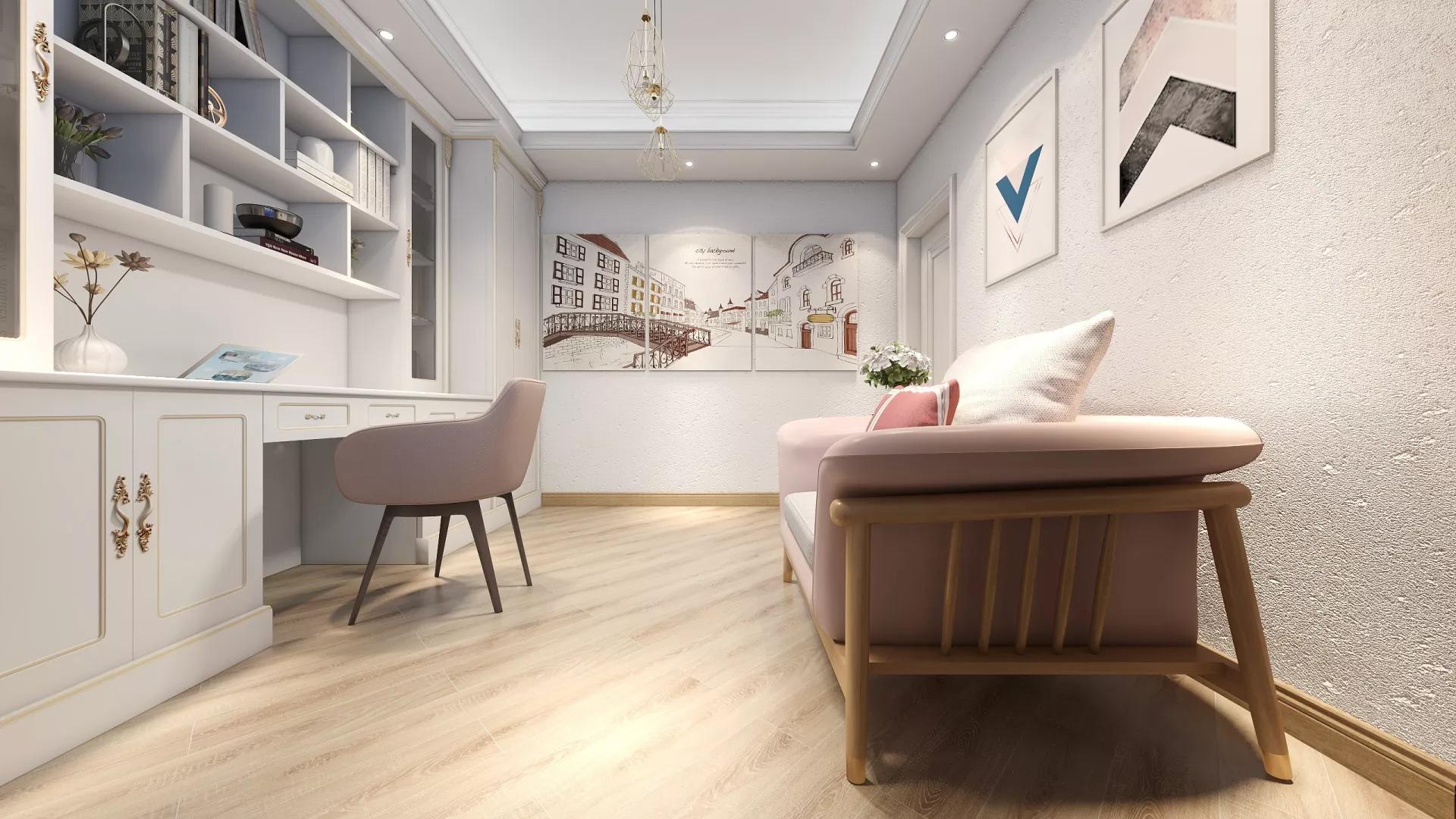 76平简约风格三居装修客厅设计图