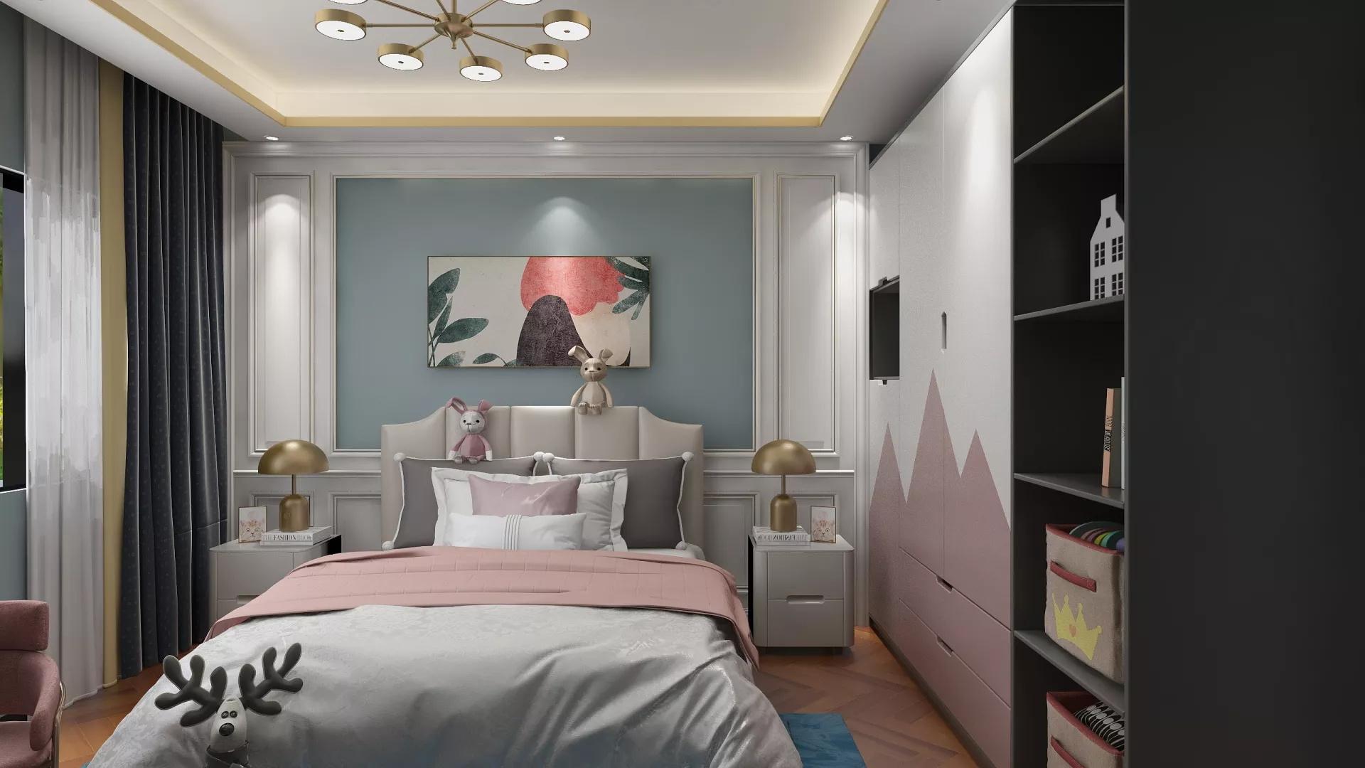 乳白色宜家风格客厅装修效果图