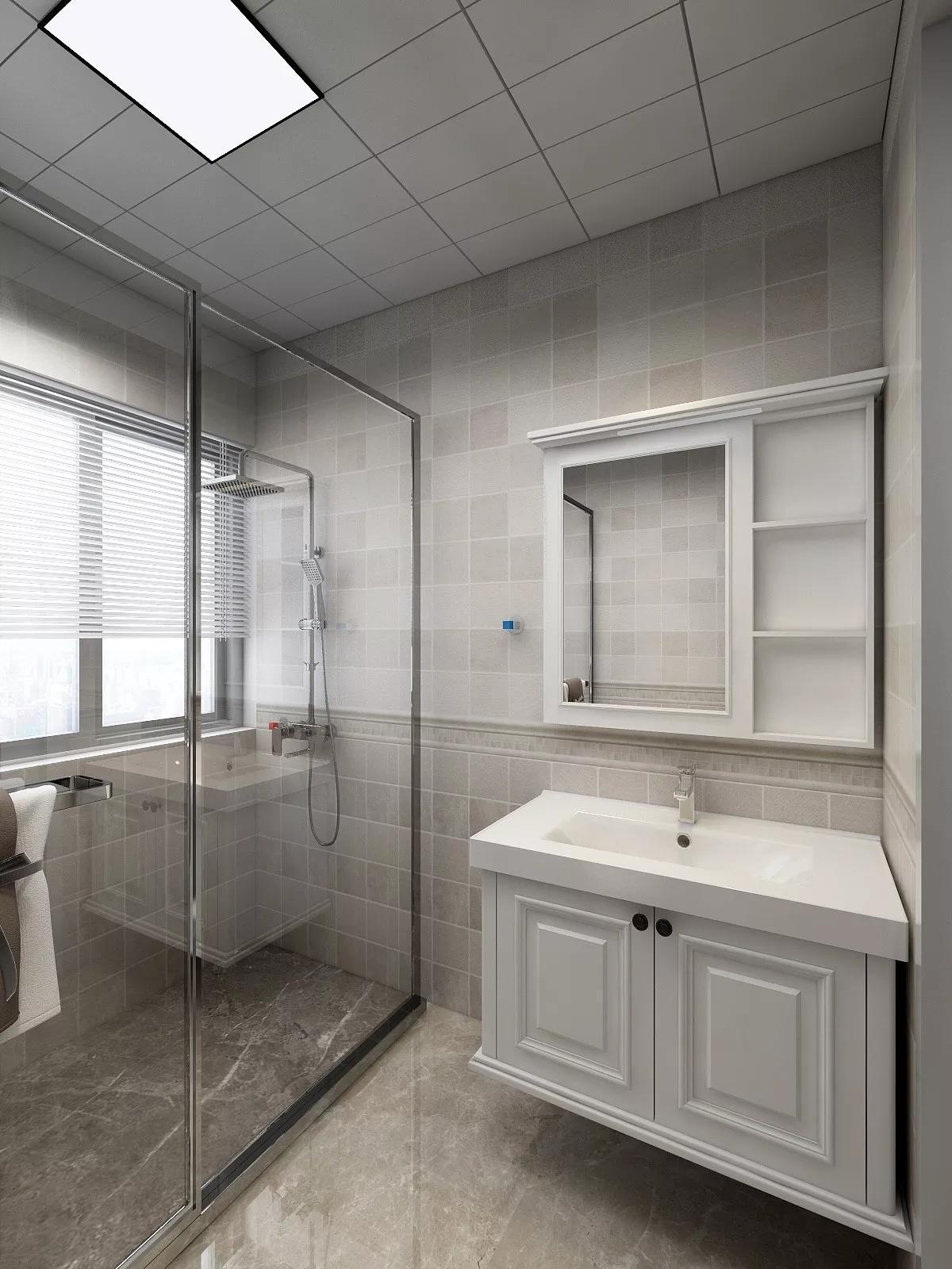 80㎡美式风格二居室装修客厅搭配图