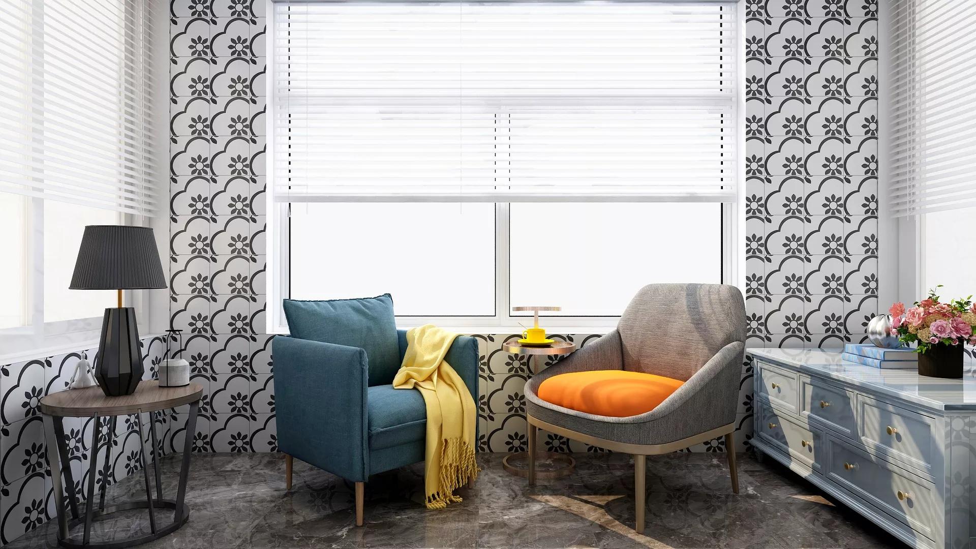 90平现代三居卧室装修效果图