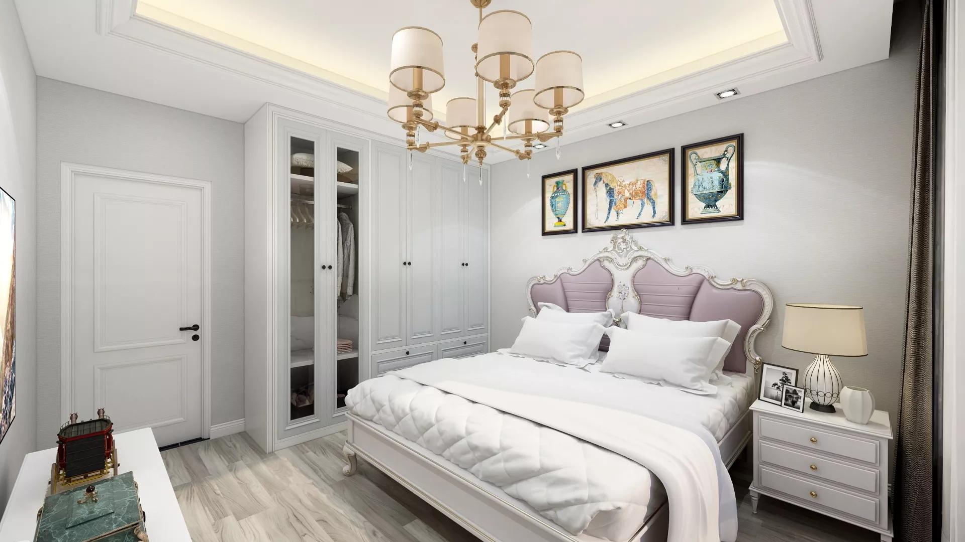 宜家风格时尚浪漫型客厅装修效果图