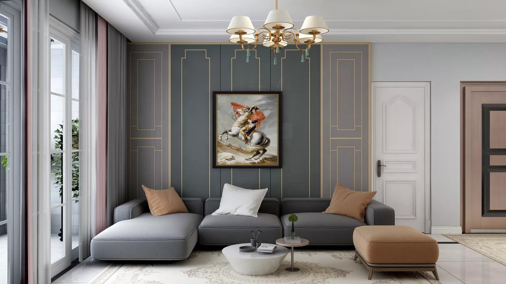 蓝色现代风亲子公寓装修设计