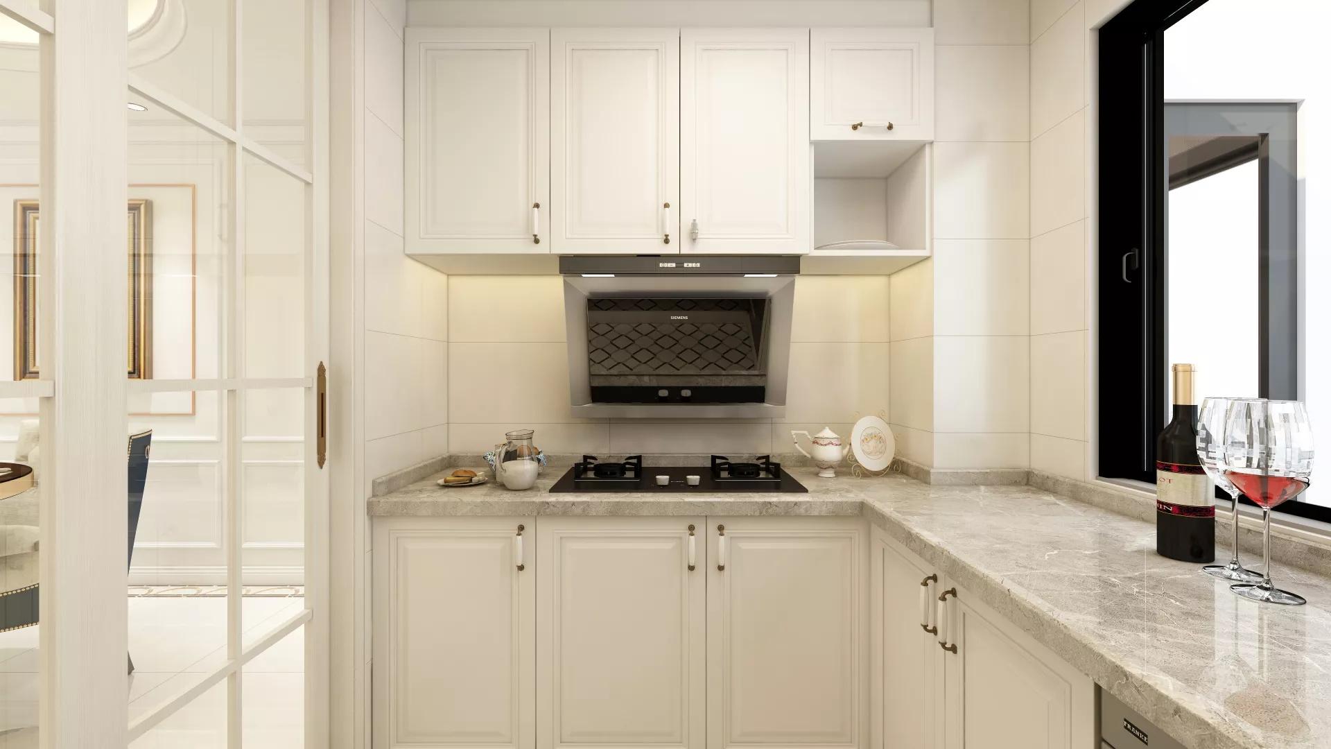 简洁温馨厨房装修效果图