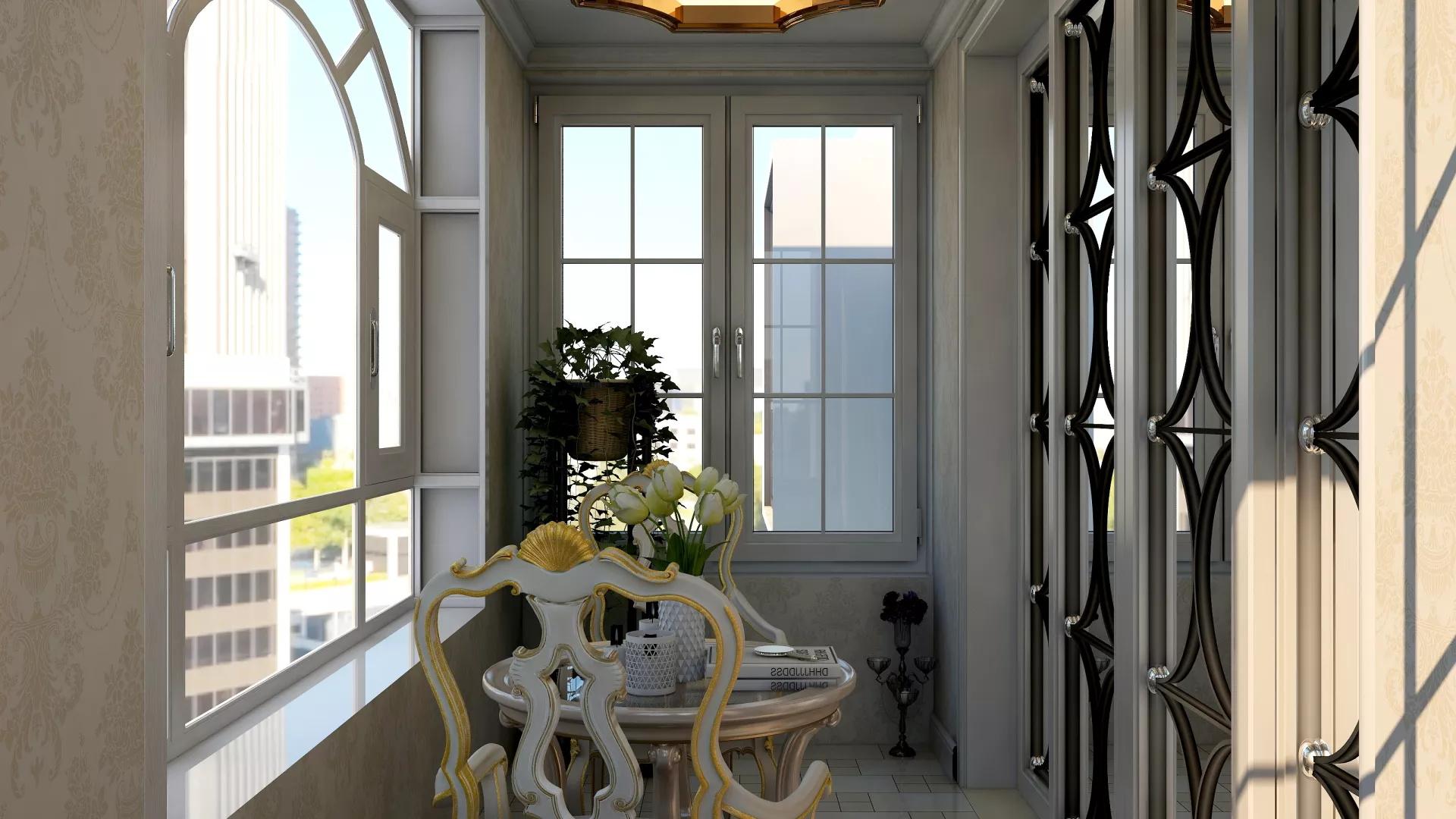 现代法式客厅楼梯装修设计效果图