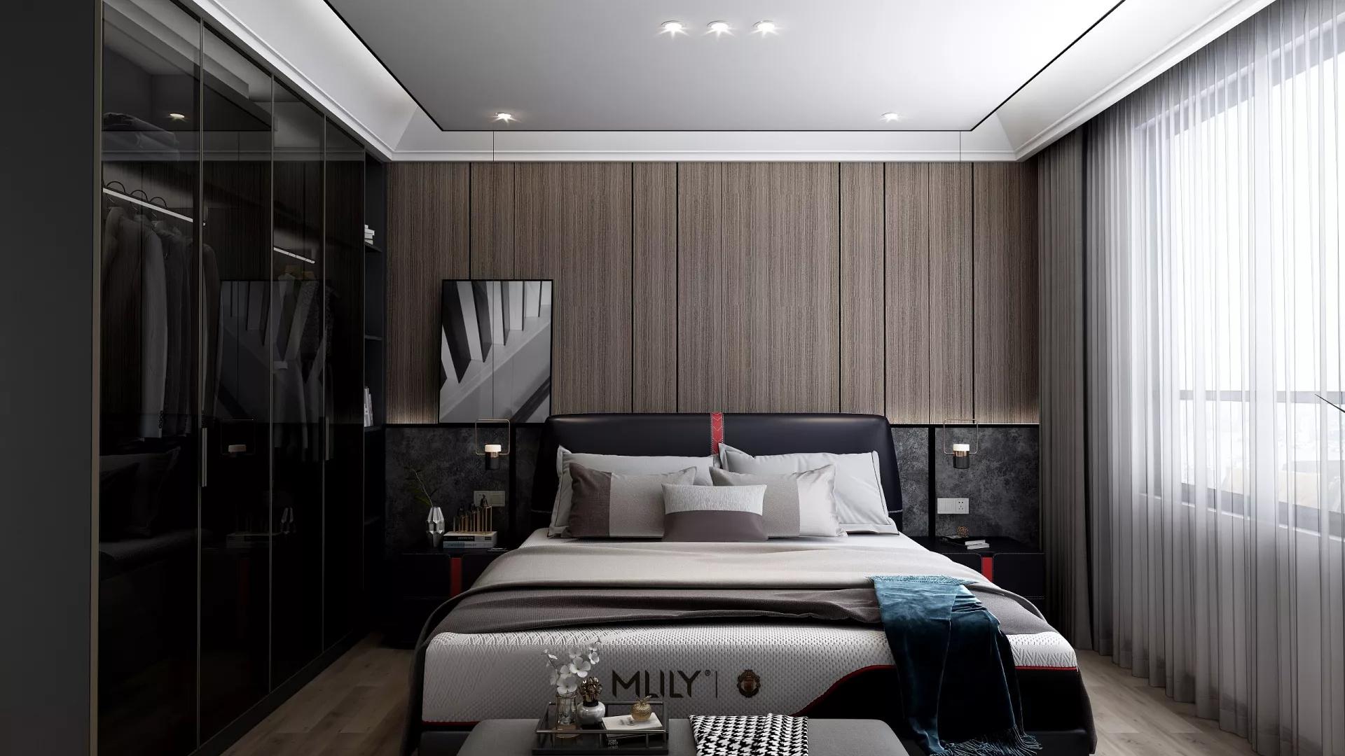 现代简洁舒适风格餐厅吧台设计效果图