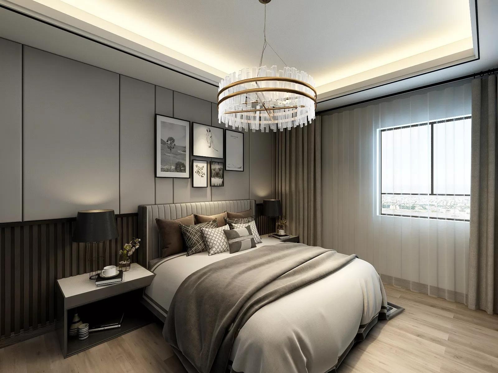 120㎡成都香槟城现代轻奢公寓装修效果图