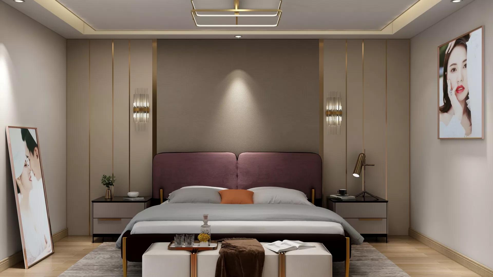 欧式风格时尚大气型卧室装修效果图