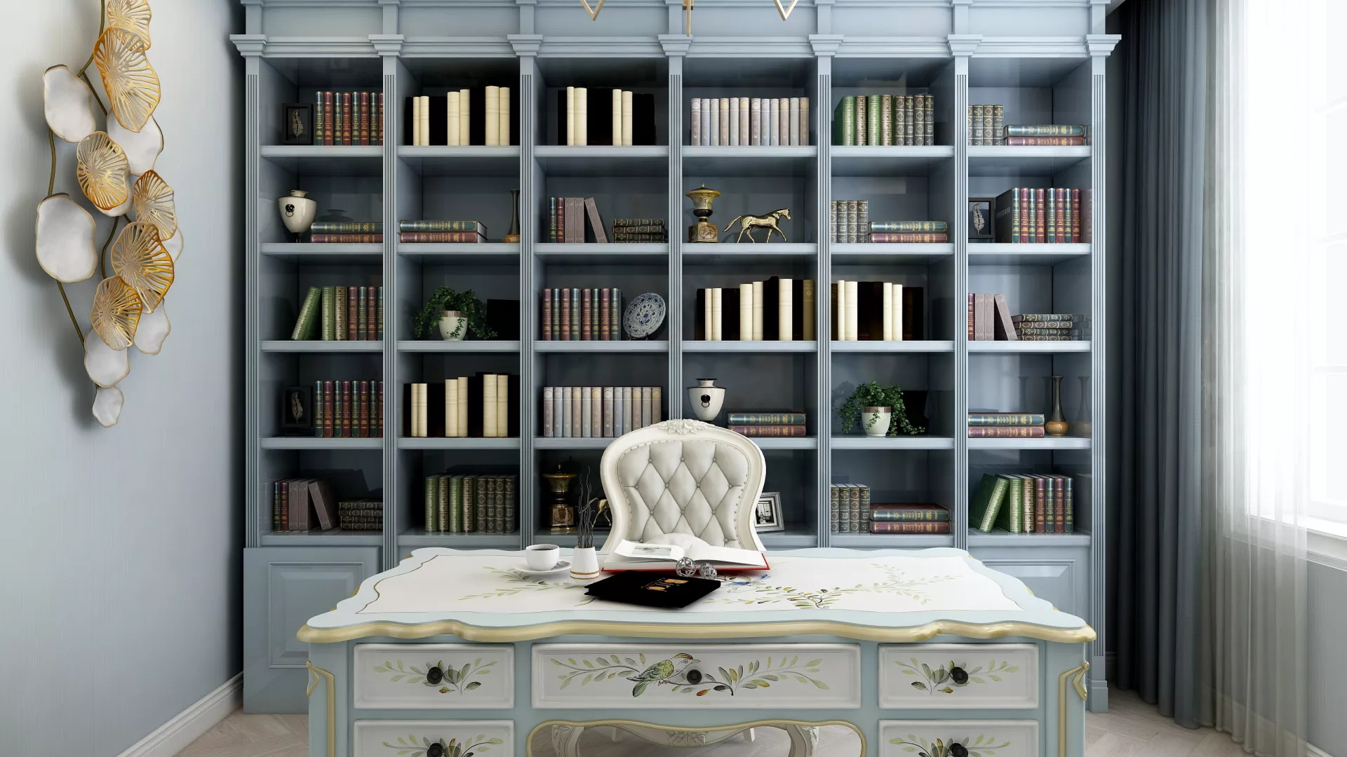 田园风格温馨舒适型客厅装修效果图