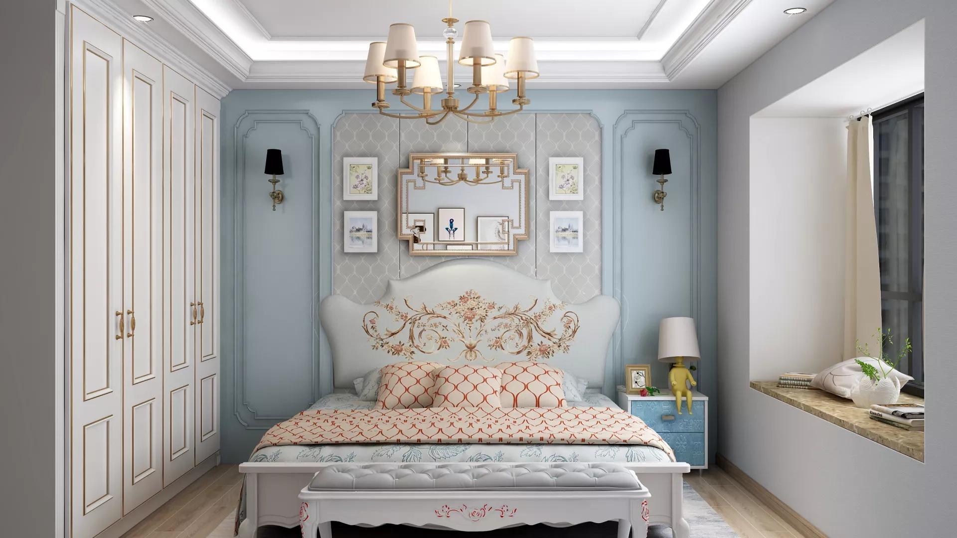浅灰色调三居室书房装修设计效果图