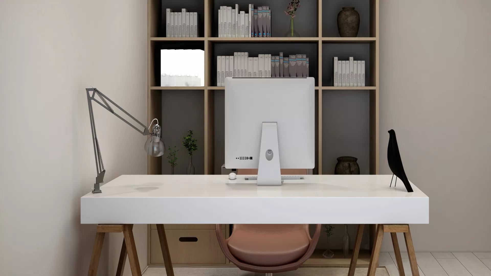 暖色温馨舒适风格厨房吧台设计效果图