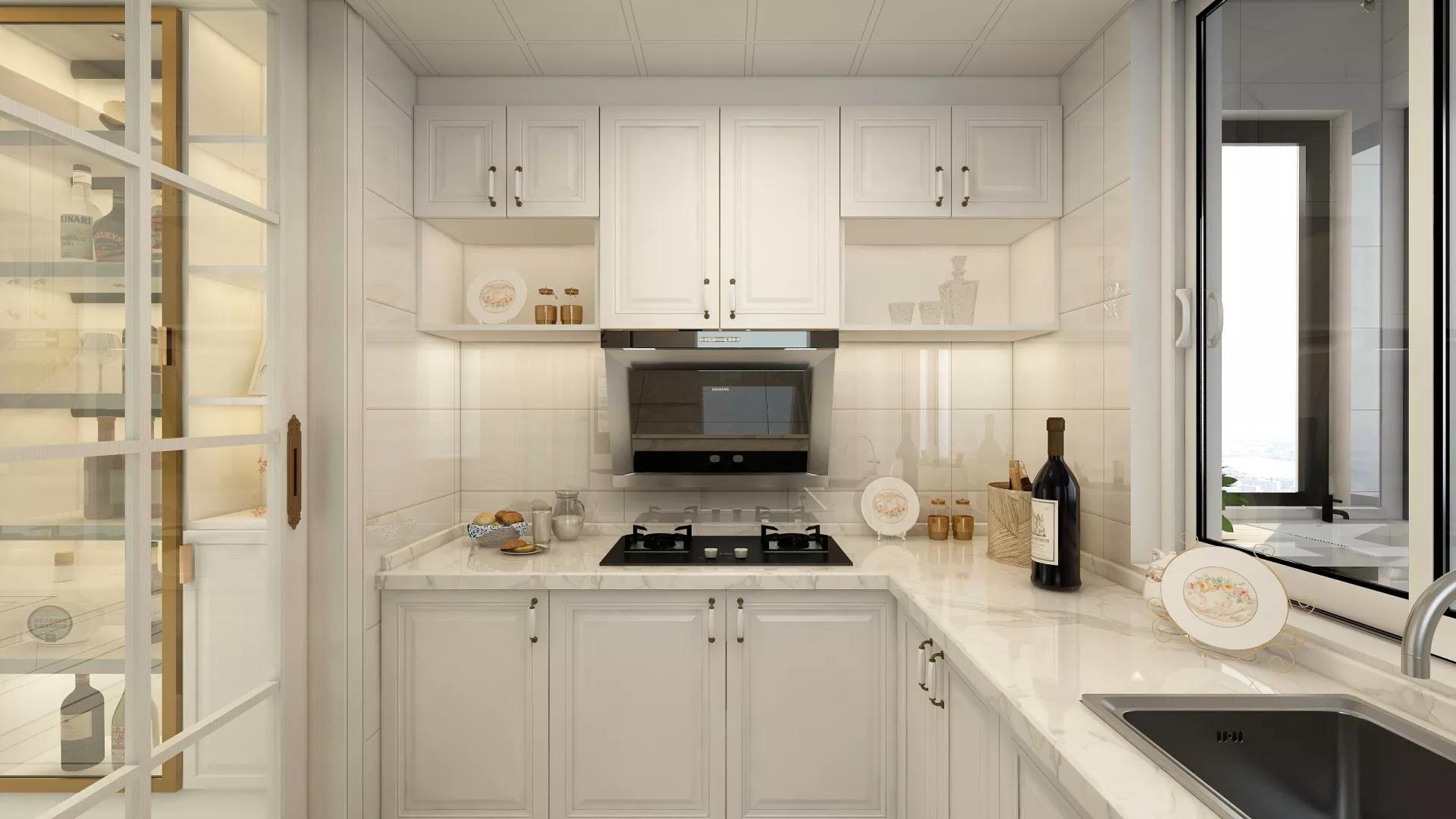 极致舒适113㎡客厅木饰面墙设计效果图
