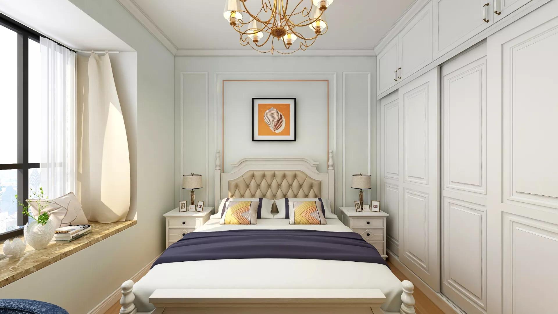 宜家风格简洁舒适型卧室装修效果图