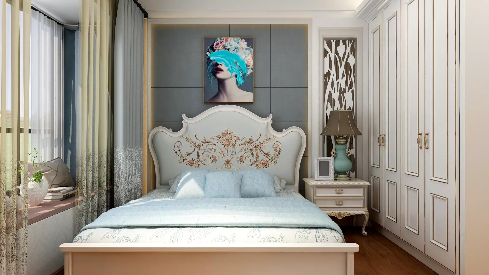 纯白极简轻奢的现代客厅装修效果图