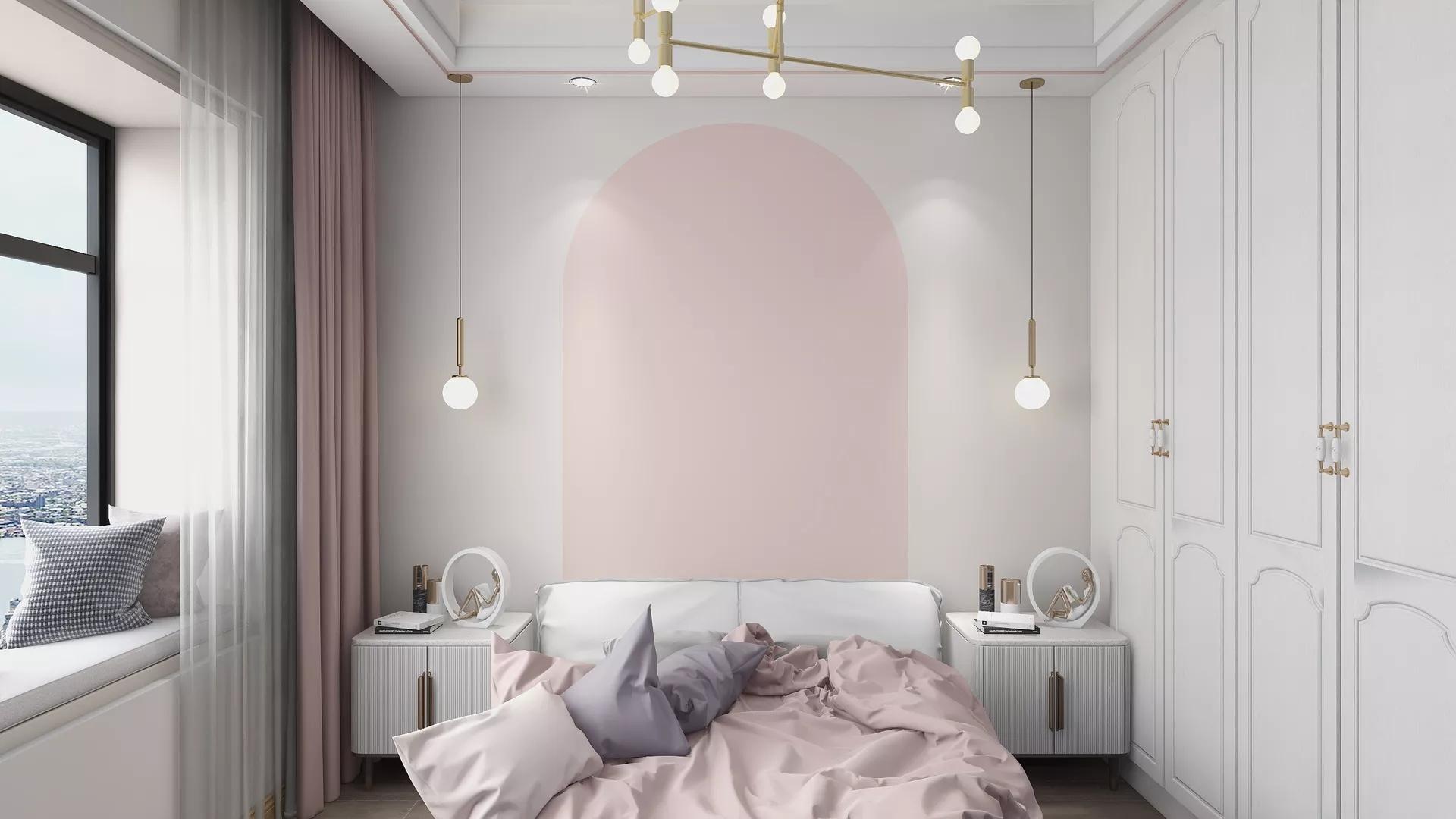 地中海式别墅卧室装修设计效果图