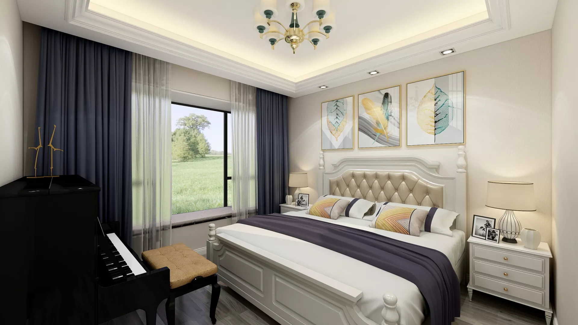 格调都市亲和优雅舒怡客厅设计效果图