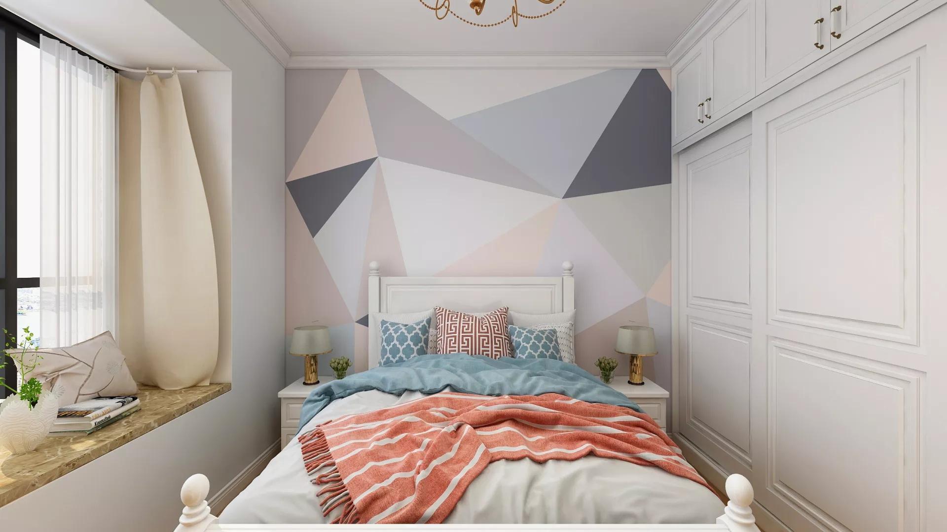 宜家风格实用小清新客厅装修效果图