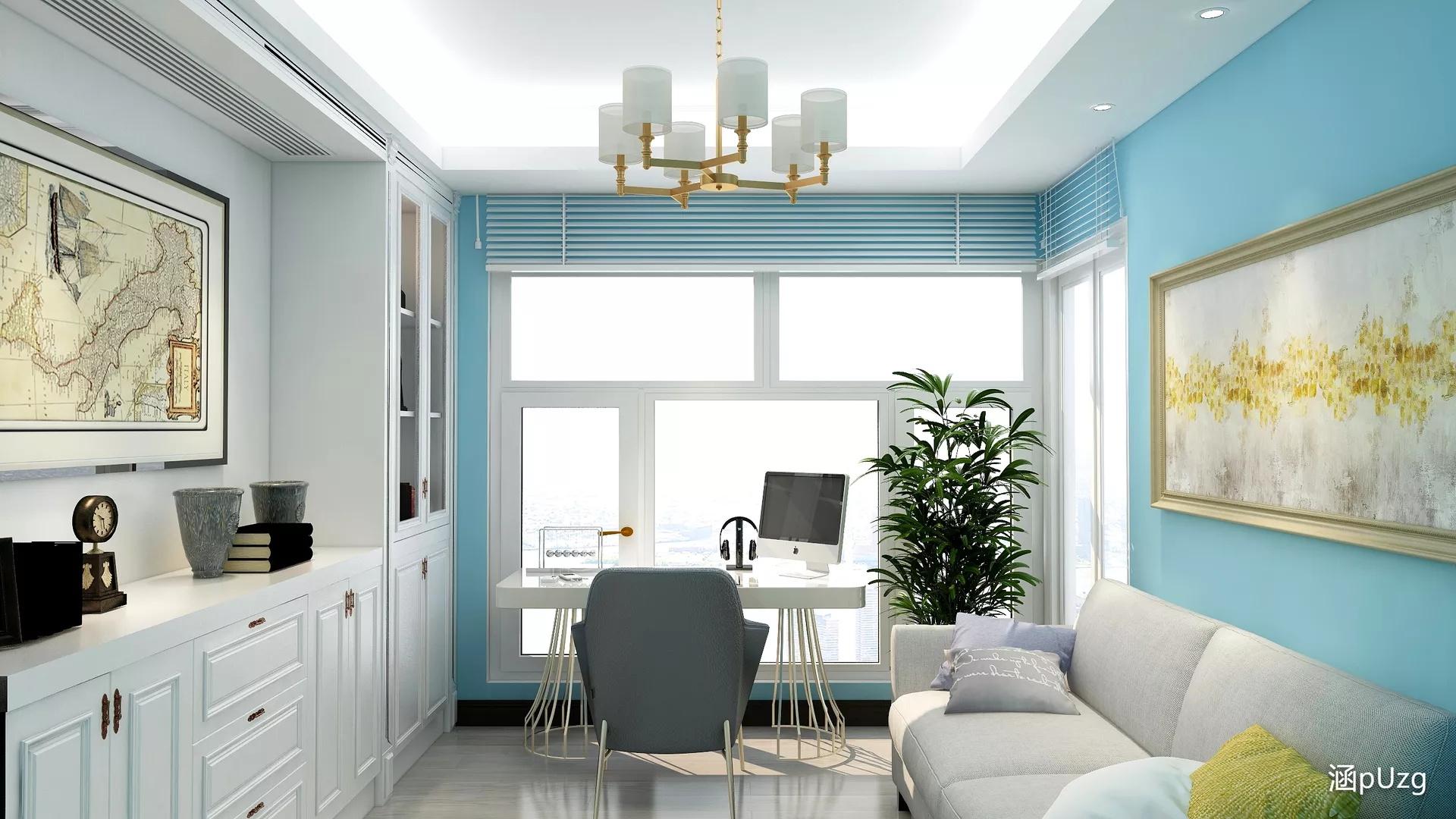 美式乡村风格稳重型客厅装修效果图