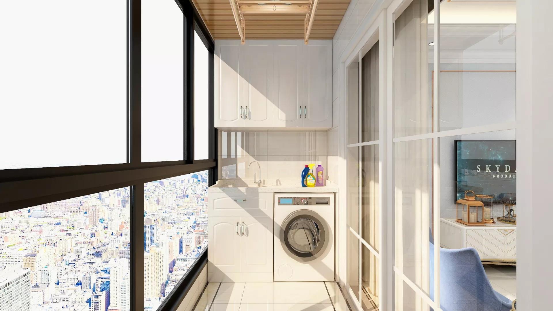 300㎡优雅清朗平层公寓客厅设计效果图