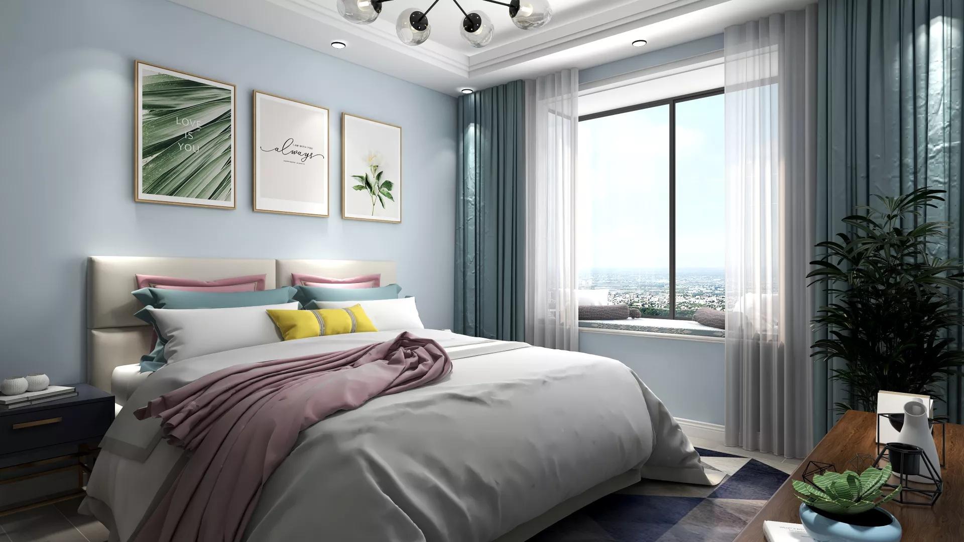 日式风格实用简洁型客厅装修效果图