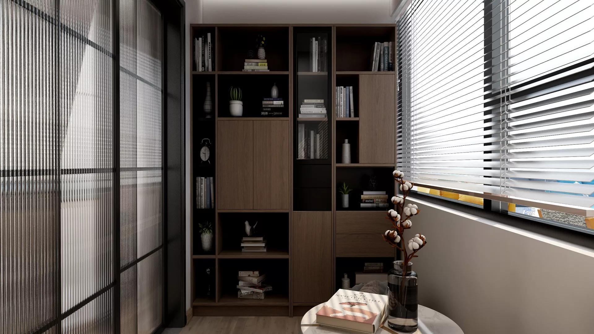 日式风格简约实用型客厅装修效果图