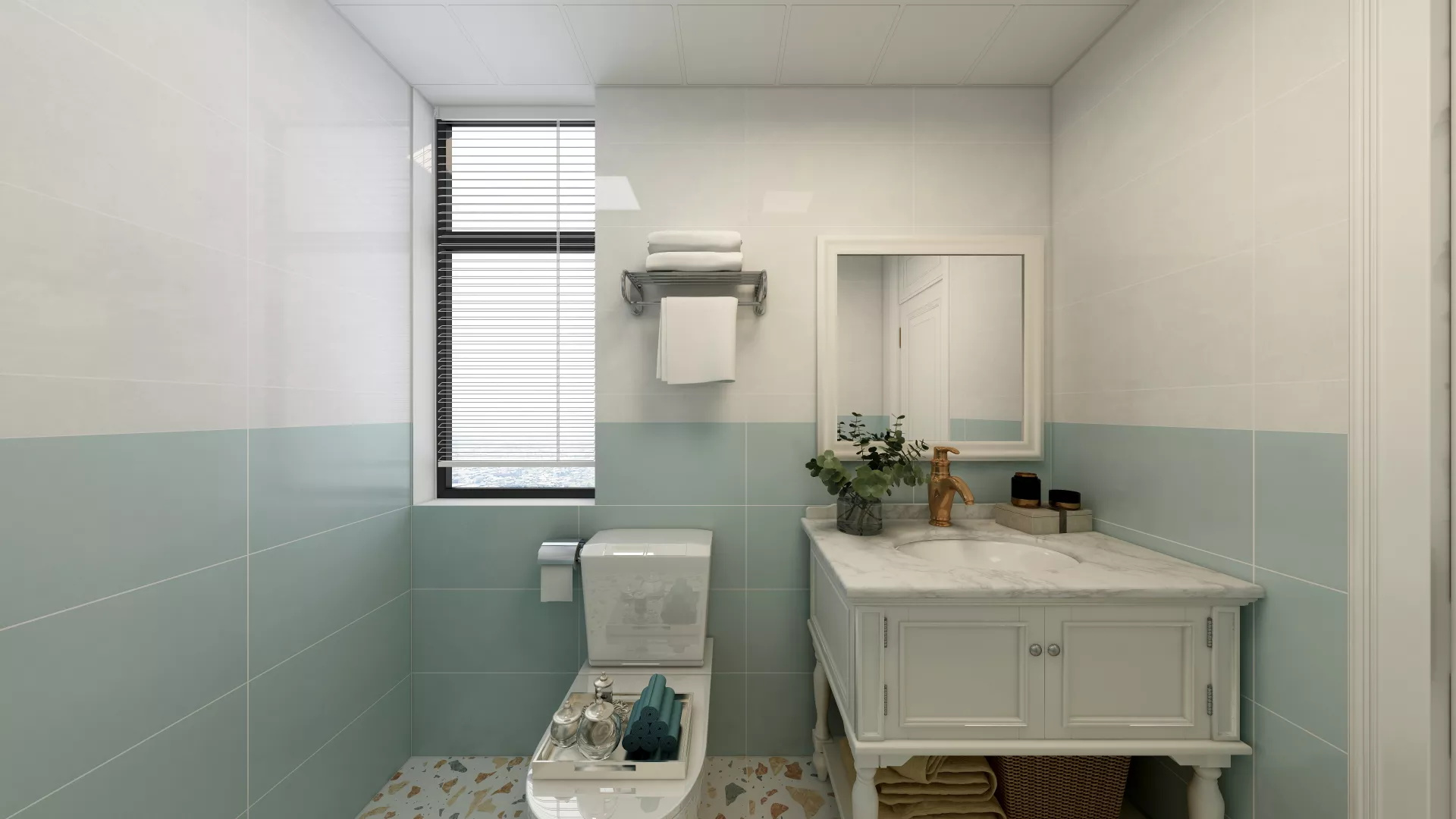 奢华欧式新古典风格四室公寓样板房装修效果图