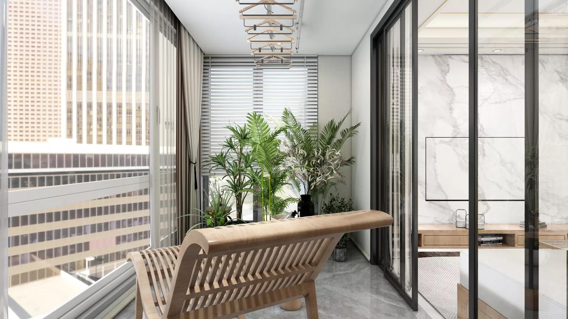 美式田园风86平两居室装修效果图