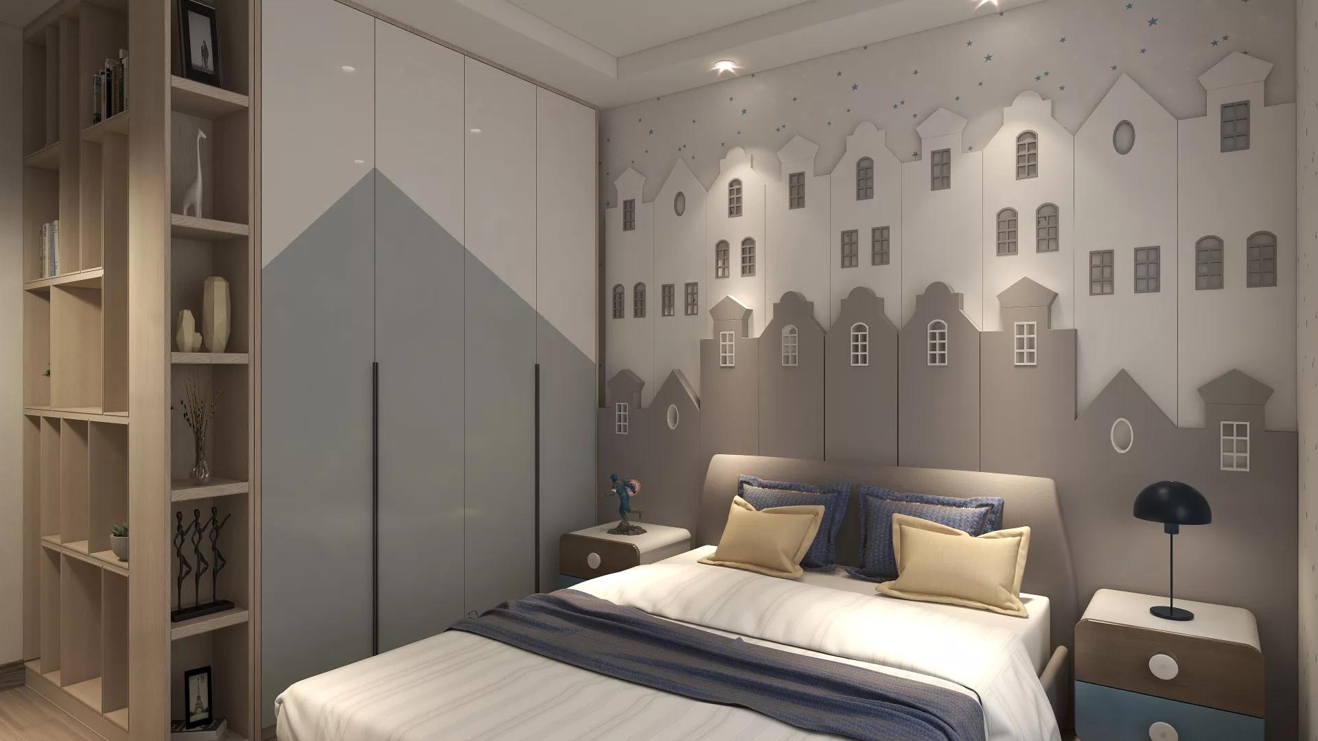 清雅日式风格小型三居室装修效果图