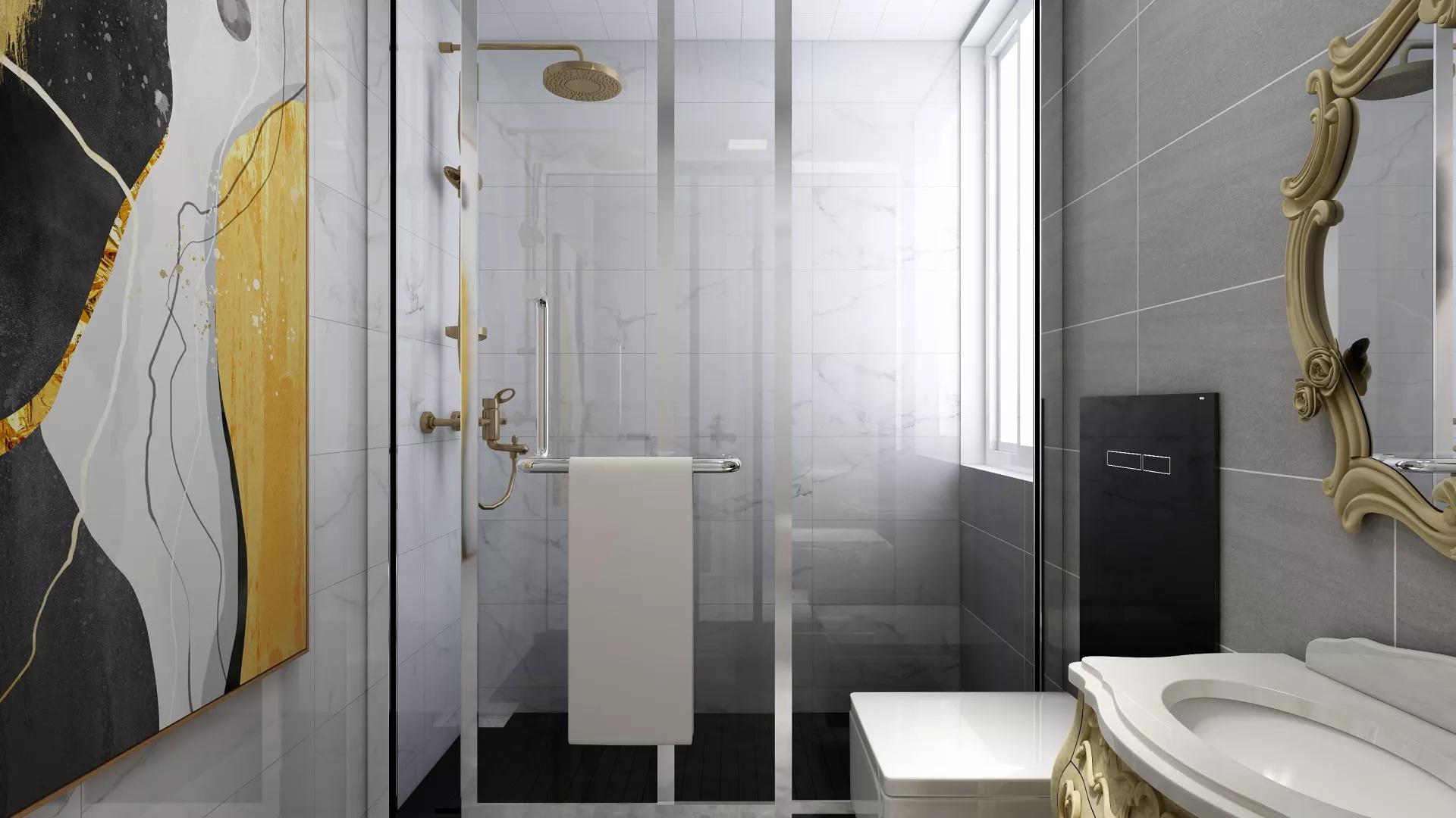 古典美式风格公寓装修室内设计效果图