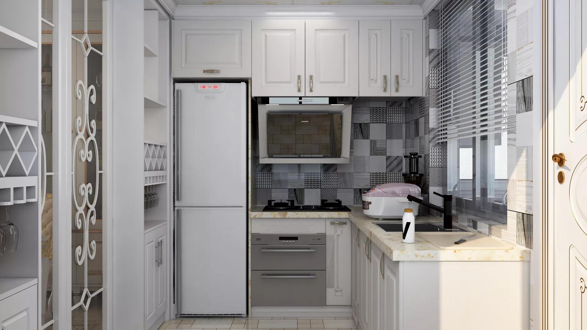 现代简欧风格三居室装修效果图