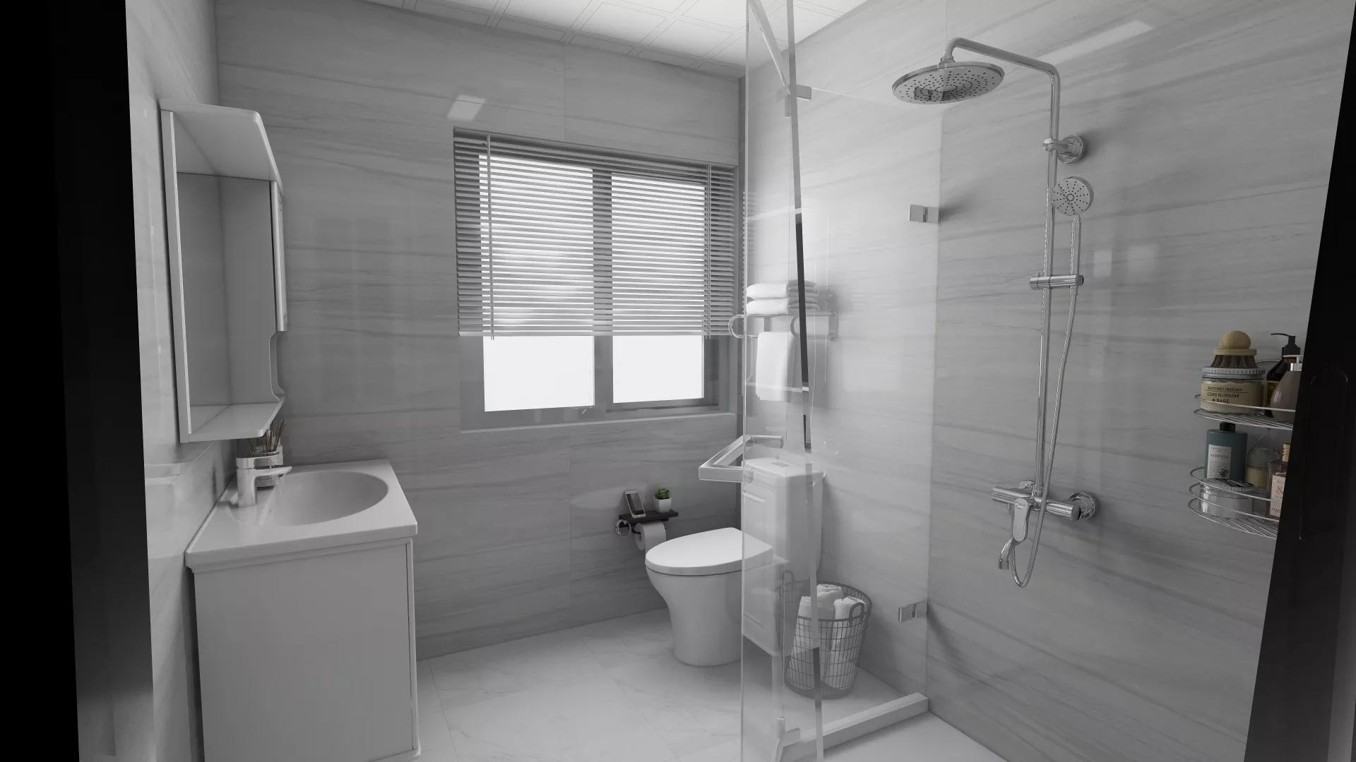 中式简洁风格卧室装修效果图
