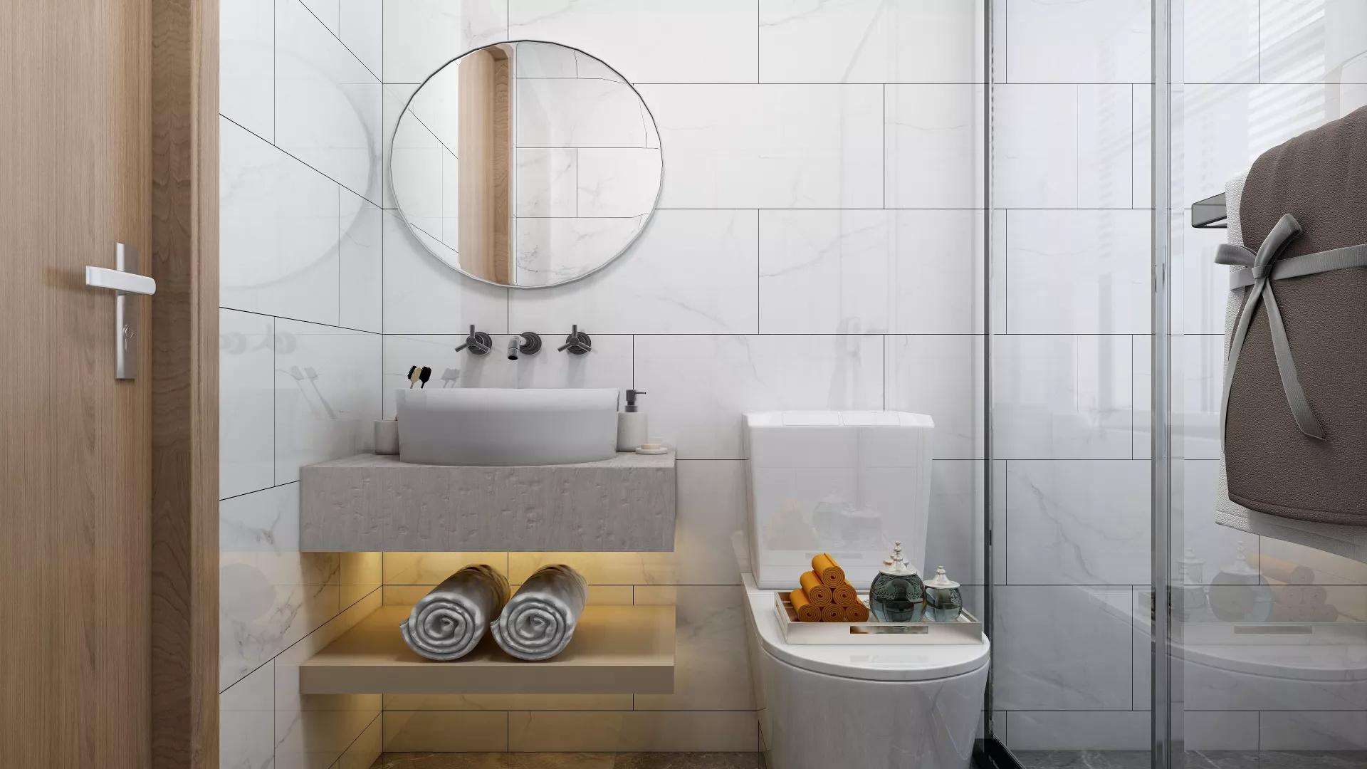 北欧LOFT时尚混搭多彩二居室装修效果图