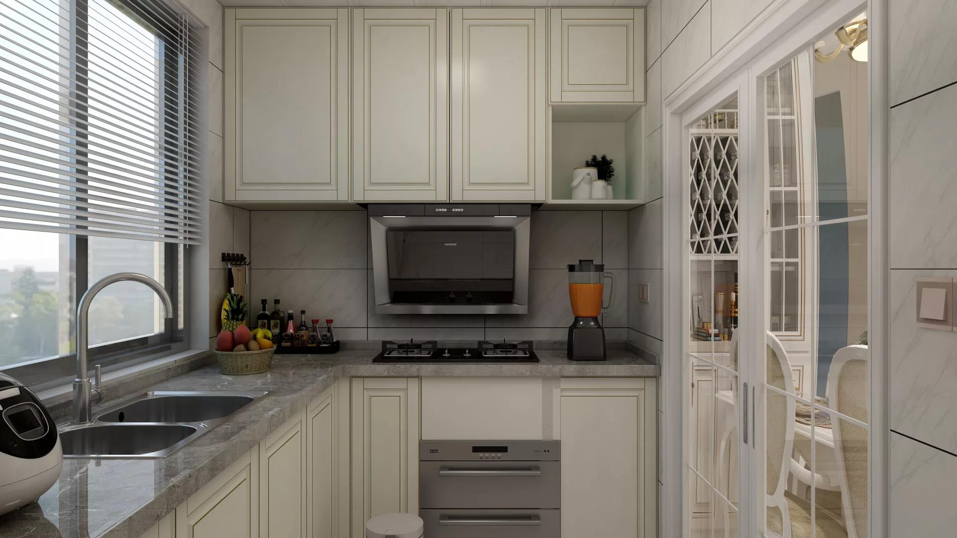 120㎡美式混搭风格家居装修布置效果图