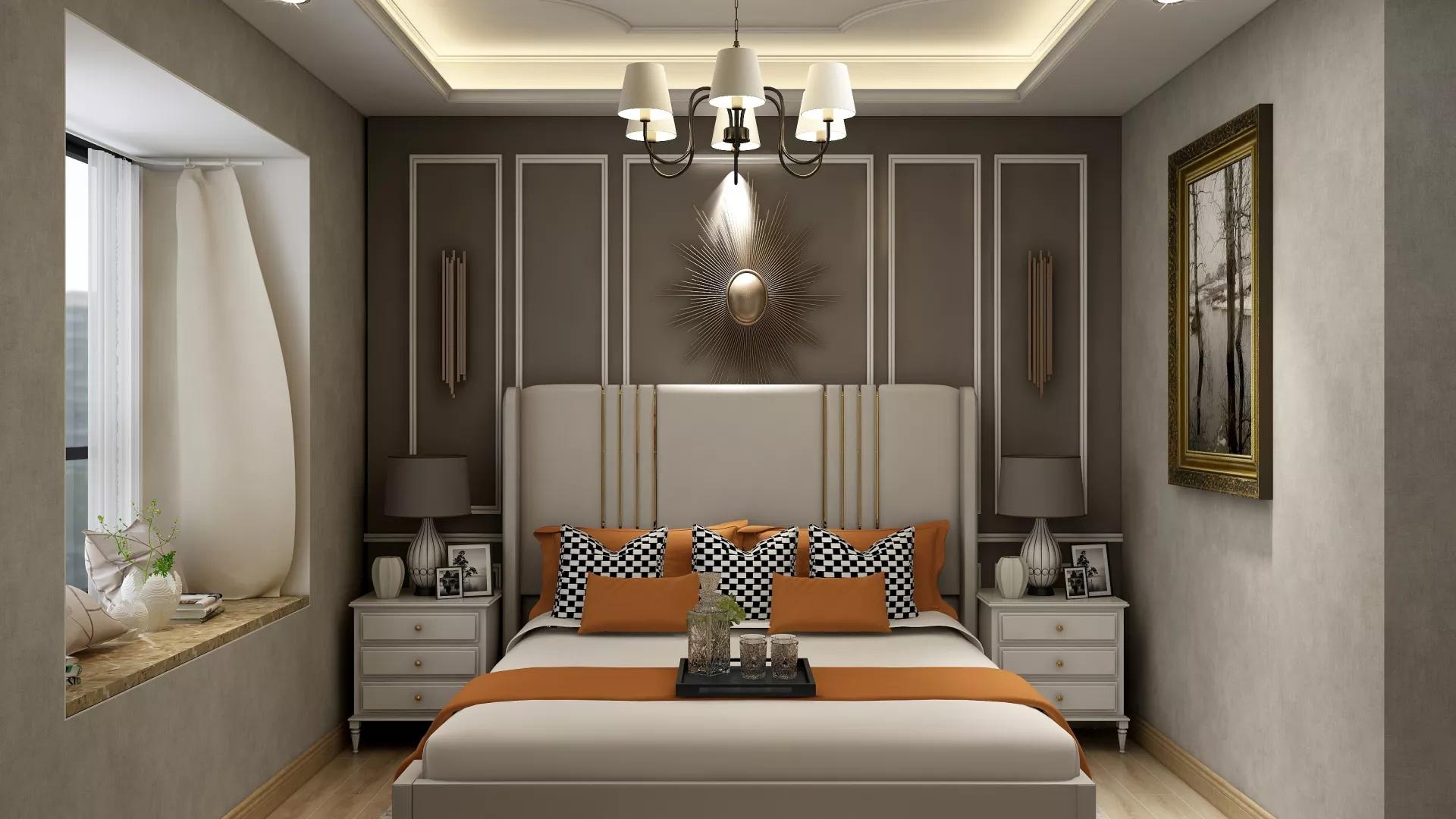 美式混搭三居室装修设计效果图