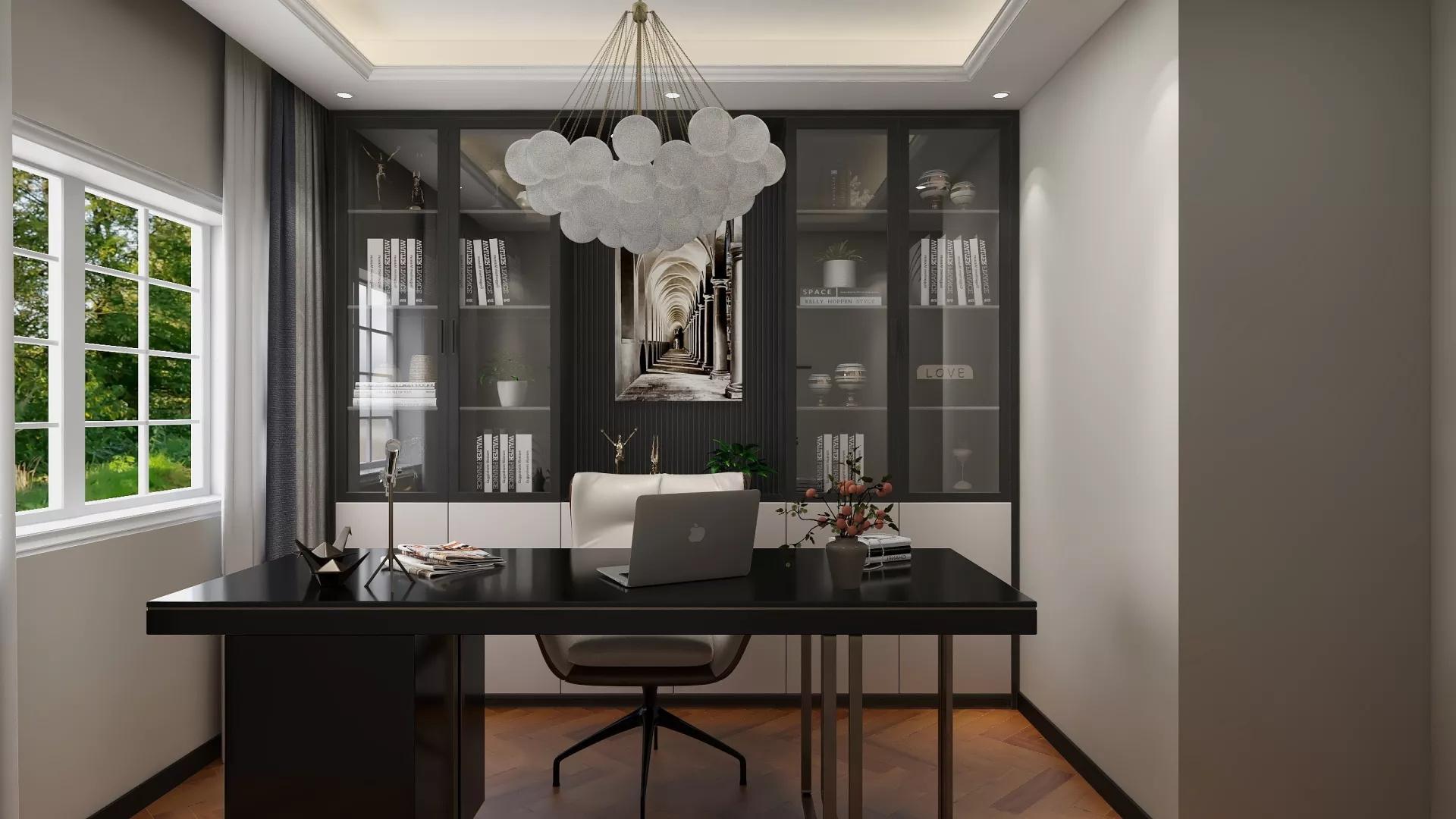 精致美式新古典风格三居室装修设计效果图