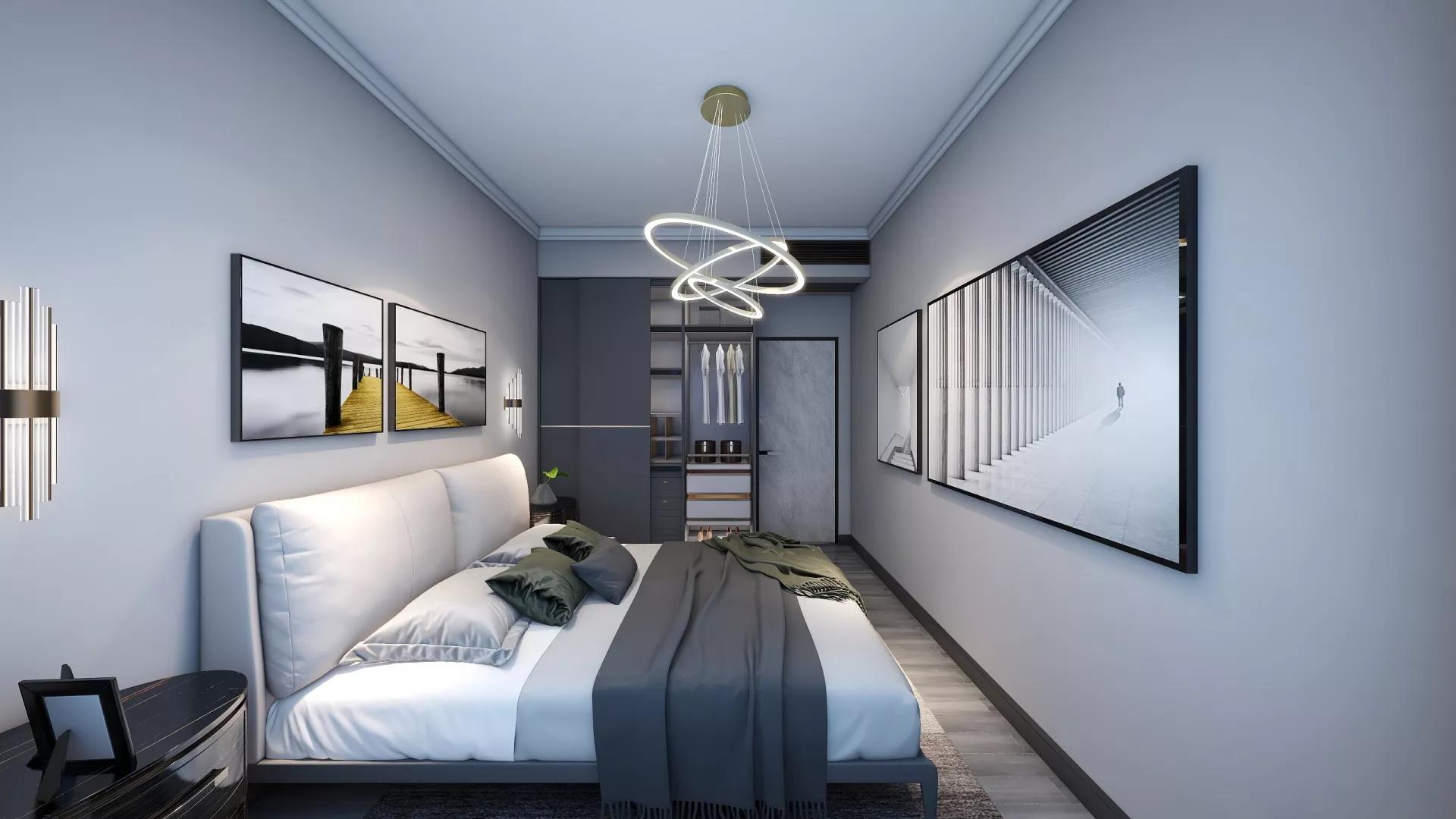 三居室现代简约风格装修风格家居设计效果图