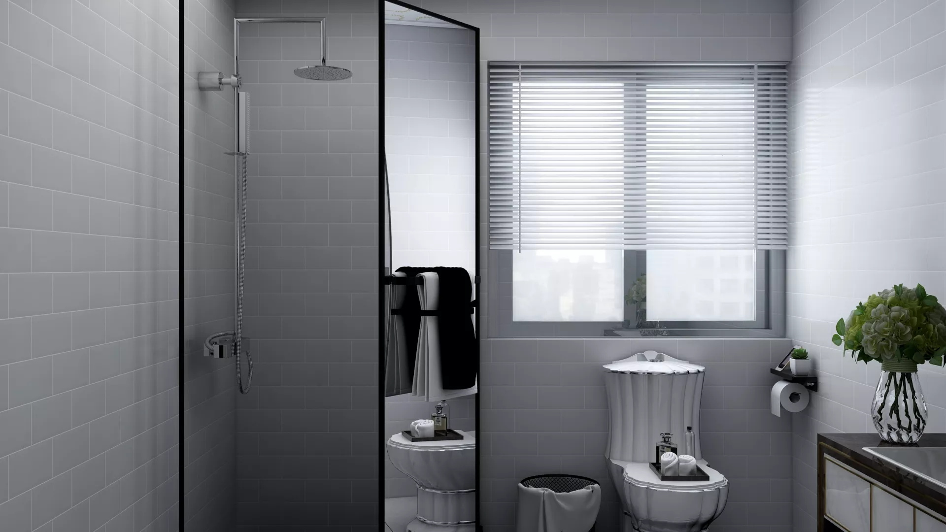 现代风格三居室家居装修效果图